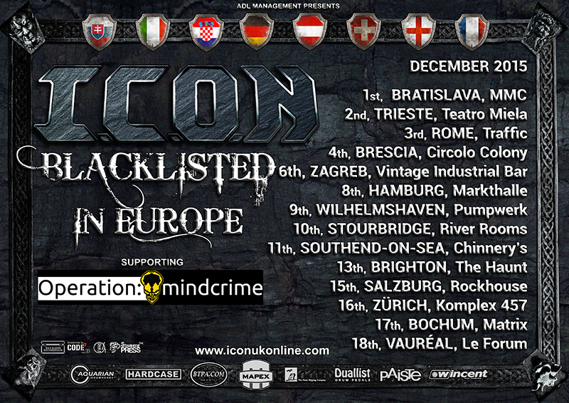 I.C.O.N support tour with Operation Mindcrime